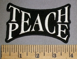 4456 CP - Teach - Peace - Entwined Words Together - Embroidery Patch