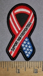 4496 S - Red, White And Blue American Flag - Support Our Firefighters - Embroidery Patch