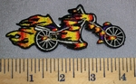 4556 N -Flamin' Motorcycle - Embroidery Patch