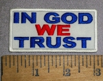 4612 CP -  In God We Trust - White Background - Embroidery Patch