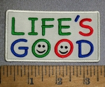 4649 CP - Life's Good - Embroidery Patch