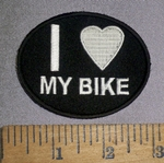 4652 CP - I Love My Bike - Oval - Embroidery Patch