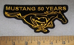4666 L - Mustang 50 Years - Mustang Logo - Embroidery Patch