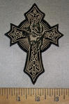 4700 CP - Cross With Face Of Jesus - Embroidery Patch