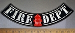 4729 CP - Fire Dept - Bottom Rocker - Fire Hydrant - Embroidery Patch