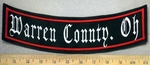 4782 L - Warren County Oh - Bottom Rocker - Embroidery Patch