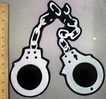 4784 L -Broken Hand Cuffs - Back Patch - Embroidery Patch