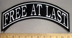 4844 L - Free At Last - Top Rocker - Embroidery Patch