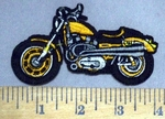 4855 C - Yellow Motorcycle - Embroidery Patch