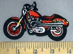 4911 C - Red Motorcycle - Embroidery Patch