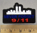 4995 CP - 9/11 - Never Forget - New York Skyline With Twin Towers - Embroidery Patch