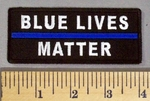 5195 CP - Blue Lives Matter - Blue Line - Embroidery Patch