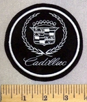5236 L - Cadillac - All Silver - Round - Embroidery Patch