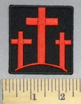 5268 CP - 3 Red Cross - Embroidery Patch