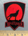 5564 CP - Wolfpack - Howling Wolf - Embroidery Patch