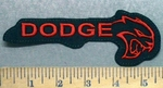 5614 l - Dodge Hell Cat - Red - Embroidery Patch