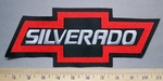 5676 L - Silverado - Chevy Bow Tie - Back Patch - Red - Embroidery Patch