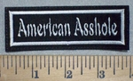 3480 L - American Asshole - Embroidery Patch