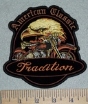 American Classic - Tradition - Eagle With Motorcycle - 5 Inch - Embroidery Patch