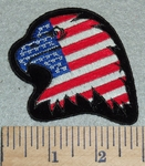 American Eagle Flag -  3 Inch - Embroidery Patch