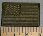 American Flag - Army Green - Embroidery Patch