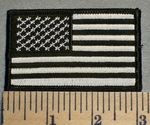 American Flag - Black And White - Embroidery Patch