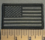 American Flag - Dark and Light Gray - Embroidery Patch