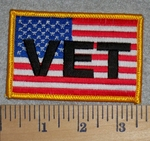 American Flag - Vet - Embroidery Patch