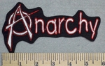 Anarchy -Red Border - Embroidery Patch