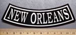 1875 L - New Orleans - Bottom Rocker - Embroidery Patch