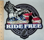 Appreciate Your Freedom - Respect To Our Vets - Ride Free- American Eagle Riding Motorcycle - Back Patch - Embroidery Patch