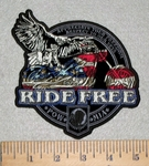 Appreciate Your Freedom - Respect To Our Vets - Ride Free - Eagle Riding Motorcycle - Embroidery Patch
