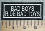 3030 L - Bad Boys Ride Bad Toys - Embroidery Patch