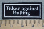 Biker Against Bulling - Embroidery Patch