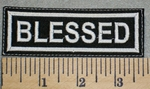2425 L - Blessed - Embroidery Patch