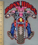3417 N - Boss Hogs On Motorcycle - Back Patch - Embroidery Patch