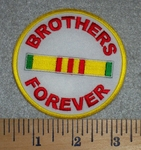 Brothers Forever - Round - Embroidery Patch