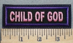 2504 L- Child Of God - Purple - Embroidery Patch