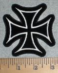3338 N - Chopper Logo - White - Embroidery Patch