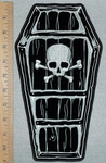 Coffin With Skull And Crossbones - Back Patch - Embroidery Patch