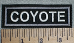 2701 L - Coyote - Embroidery Patch