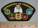 Defenders Of Freedom - With Military Seals - Embroidery Patch
