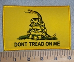 2802 W - Don't Tread On Me - Yellow With Snake - 5 Inch - Embroidery Patch