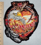 Dream Catcher With Eagle - Back Patch - Embroidery Patch