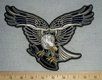 Eagle With Bomb - Back Patch - Embroidery Patch