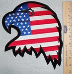 Eagle With U.S.A. Flag - Back Patch - Embroidery Patch