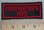 3084 L - Firefighter's Wife - Red - Embroidery Patch