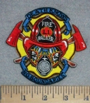 3409 N - Firefighter With Mask And Axe - Death Knows No Boundaries - Embroidery Patch