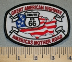 Great American Highway Americas Mother Road - Rte US 66 - Embroidery Patch