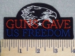 Guns Gave Us Freedom - Eagle - Embroidery Patch
